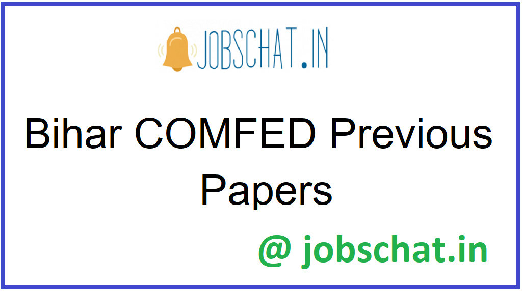 Bihar COMFED Previous Papers