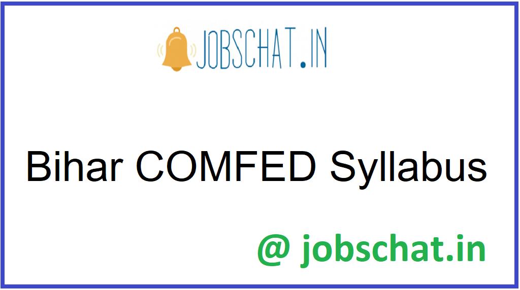Bihar COMFED Syllabus