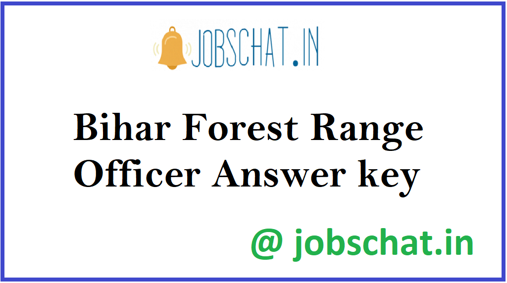 Bihar Forest Range Officer Answer key