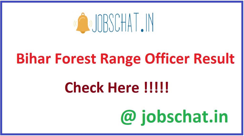 Bihar Forest Range Officer Result
