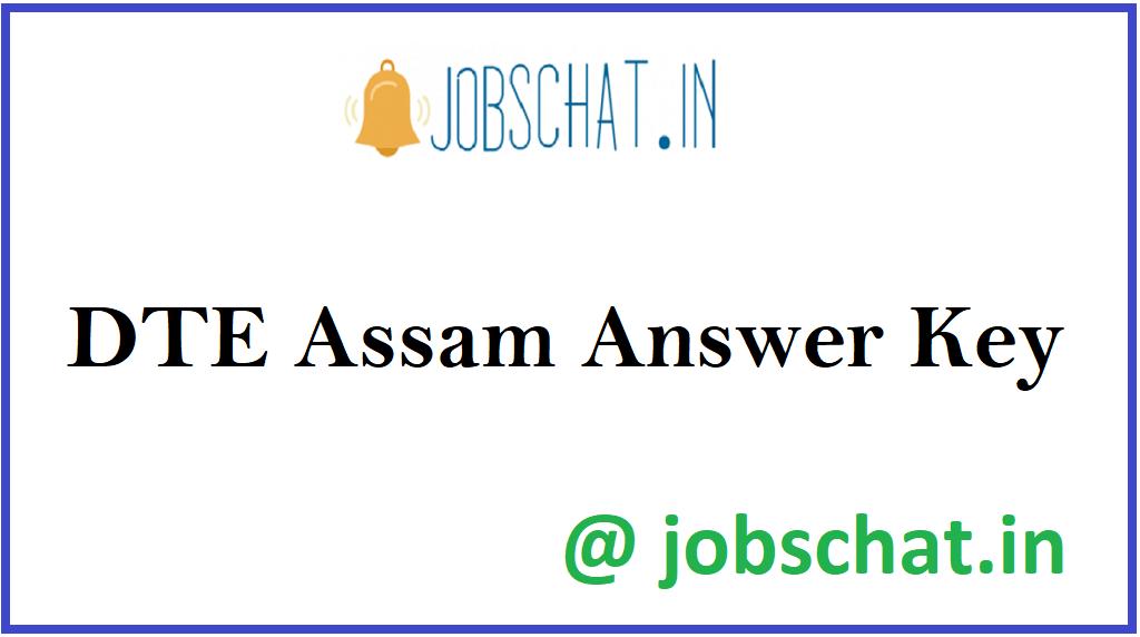 DTE Assam Answer Key