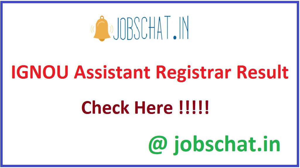 IGNOU Assistant Registrar Result