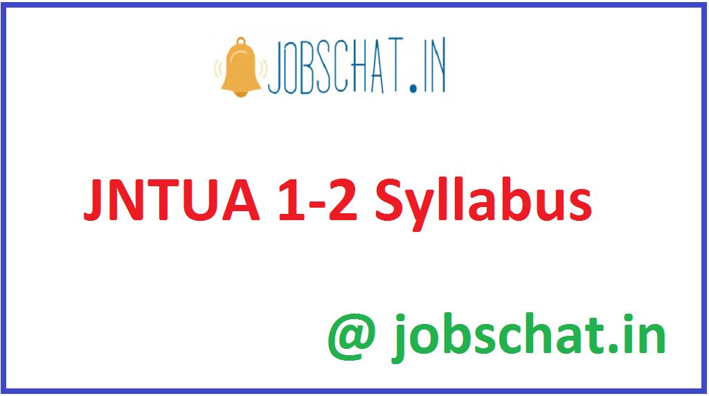 JNTUA 1-2 Syllabus