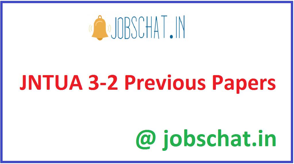 JNTUA 3-2 Previous Papers