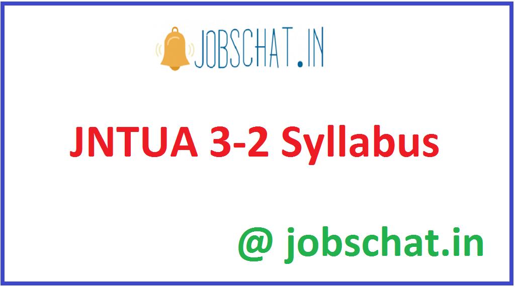 JNTUA 3-2 Syllabus