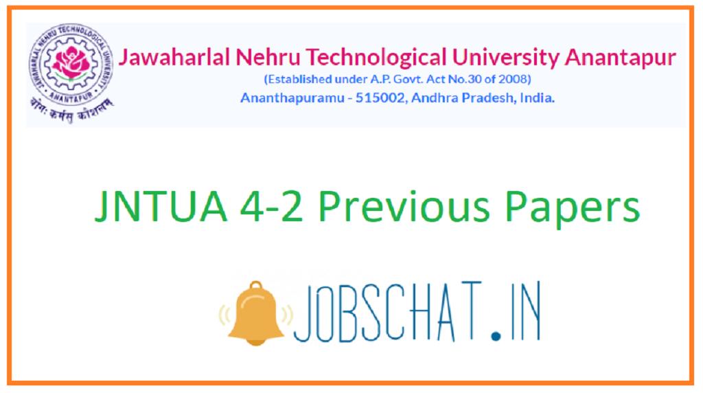JNTUA 4-2 Previous Papers