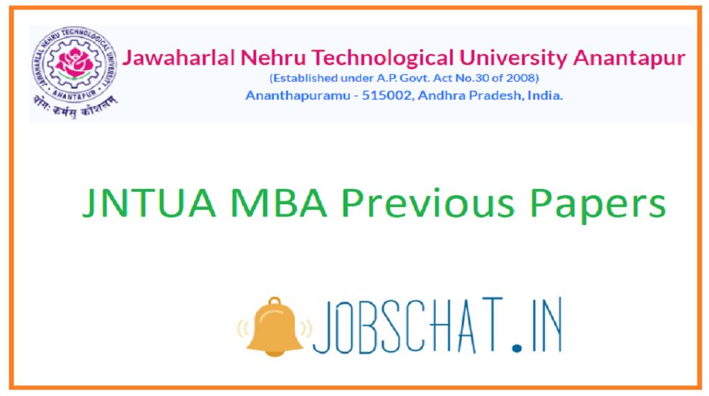 JNTUA MBA Previous Papers