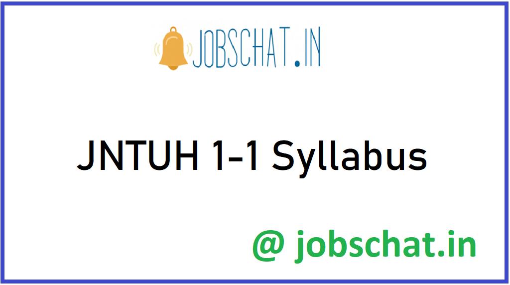 JNTUH 1-1 Syllabus
