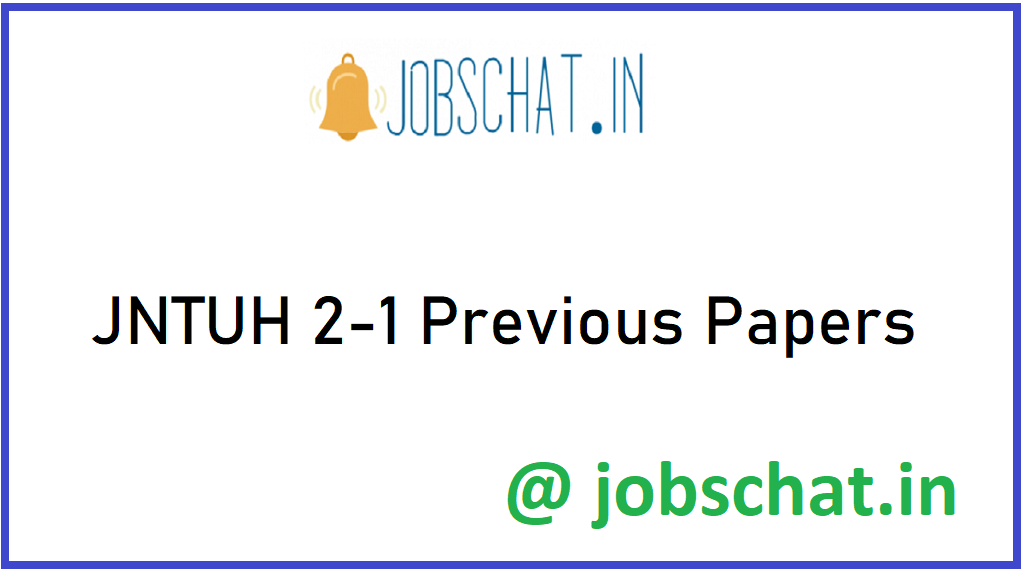 JNTUH 2-1 Previous Papers