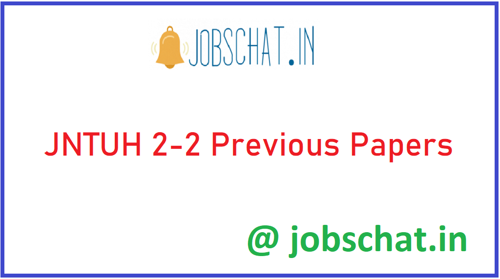 JNTUH 2-2 Previous Papers