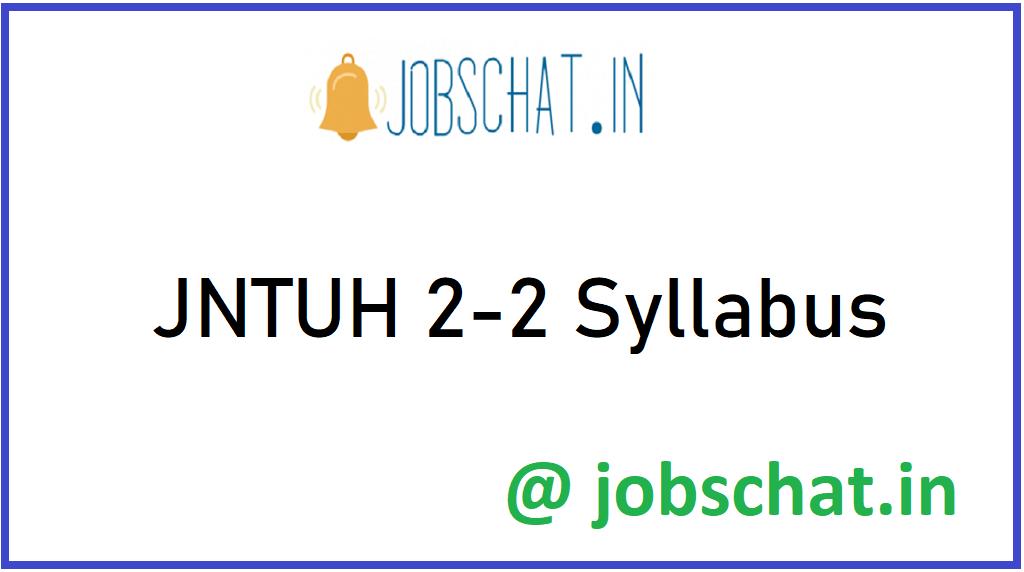 JNTUH 2-2 Syllabus