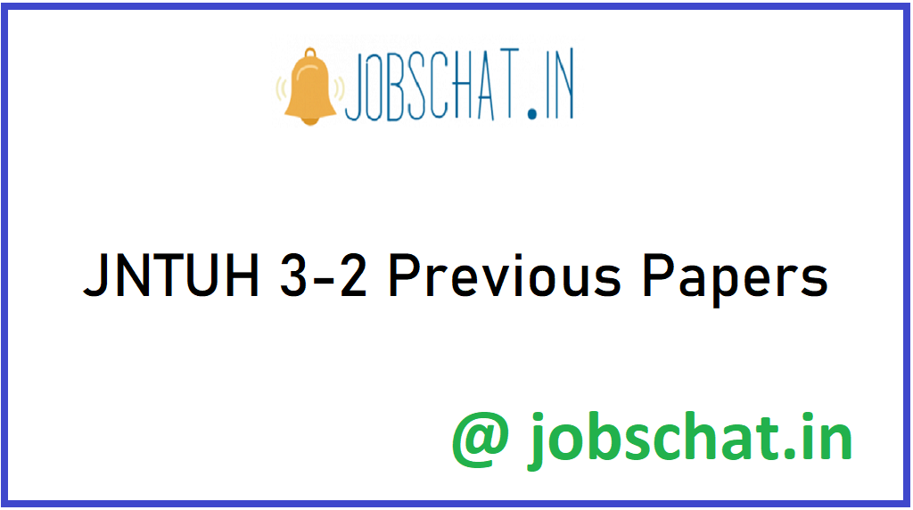 JNTUH 3-2 Previous Papers