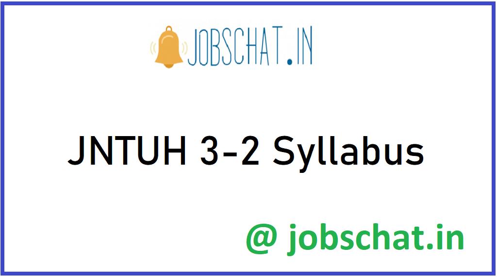 JNTUH 3-2 Syllabus