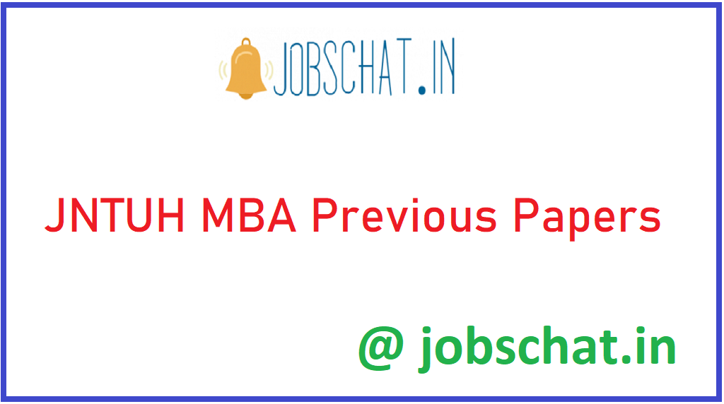 JNTUH MBA Previous Papers