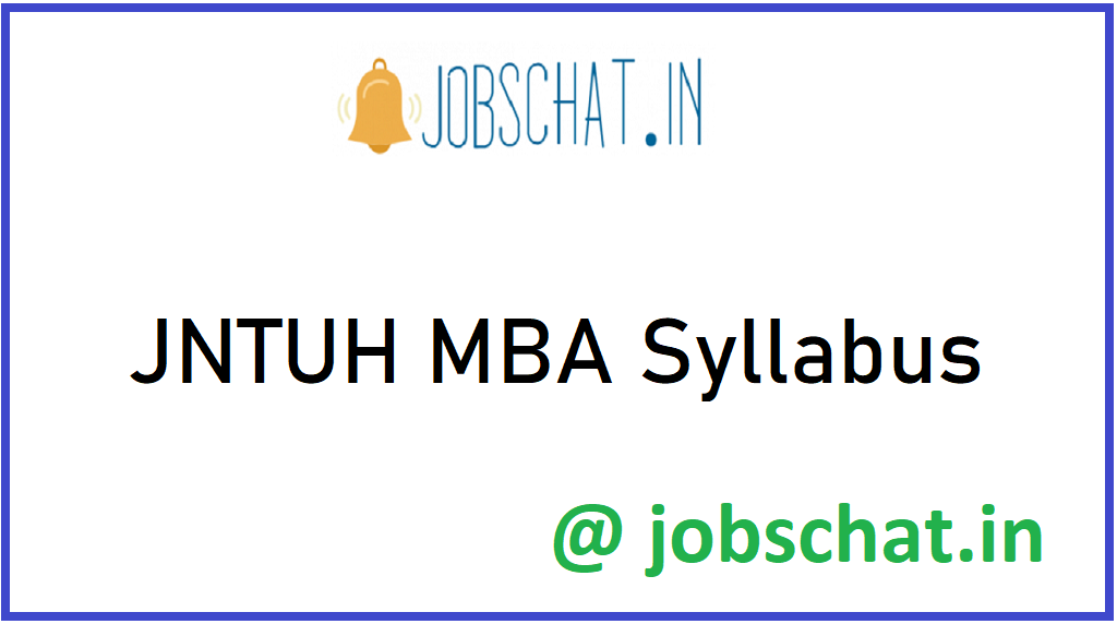 JNTUH MBA Syllabus