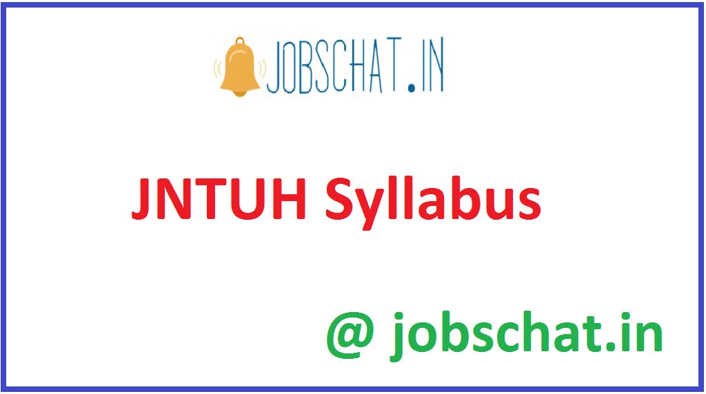 JNTUH Syllabus