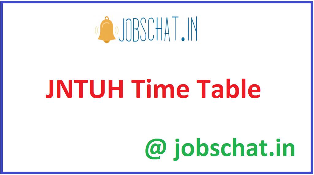 JNTUH Time Table