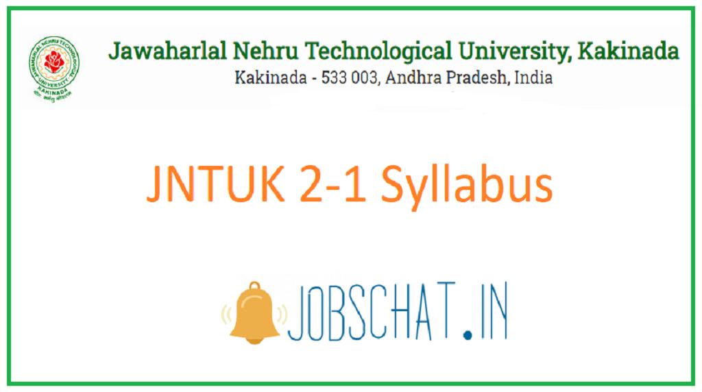 JNTUK 2-1 Syllabus