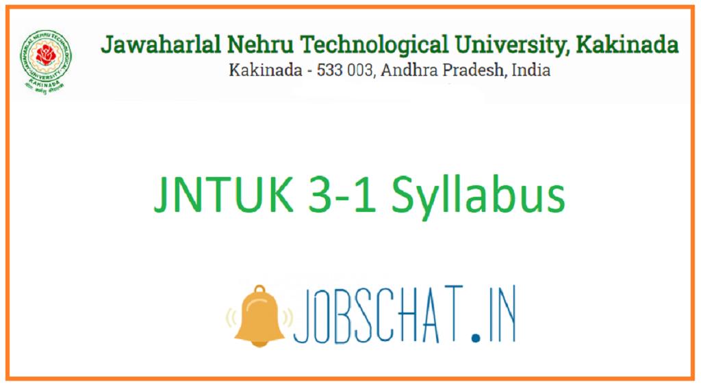 JNTUK 3-1 Syllabus