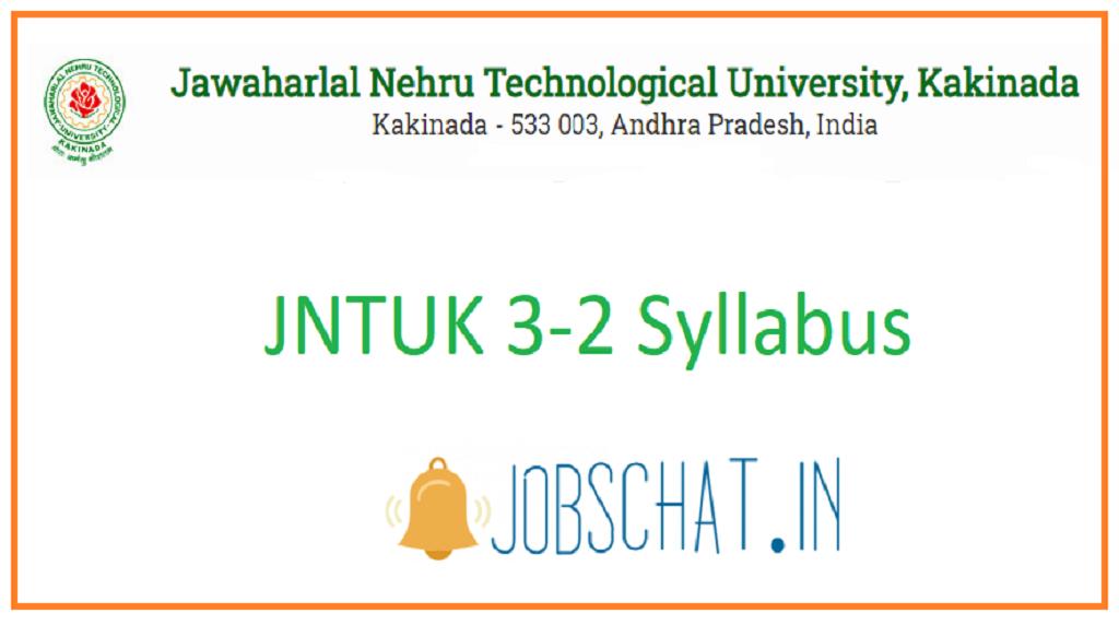 JNTUK 3-2 Syllabus