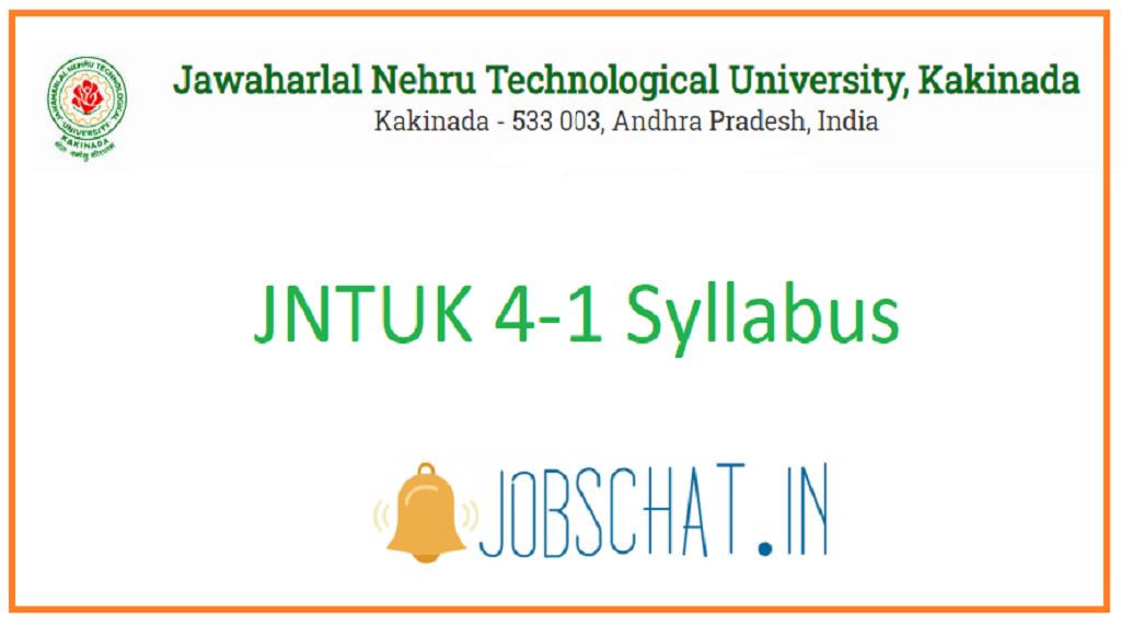 JNTUK 4-1 Syllabus