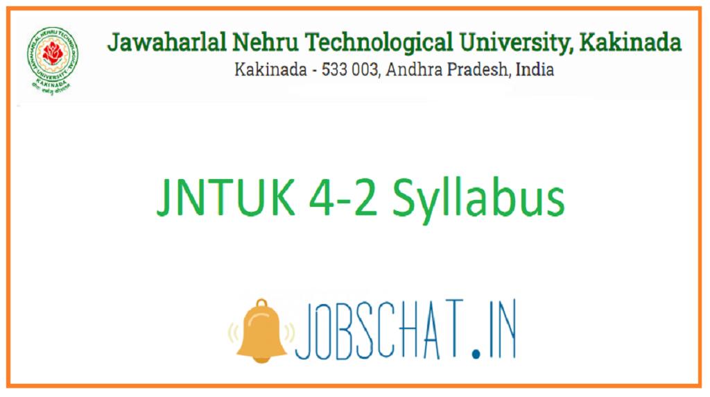 JNTUK 4-2 Syllabus