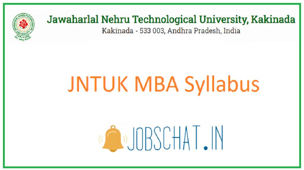 JNTUK MBA Syllabus