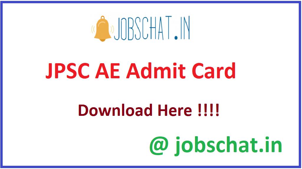 JPSC AE Admit Card