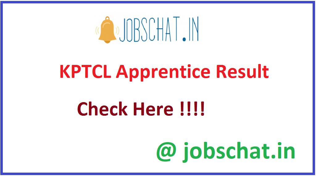 KPTCL Apprentice Result