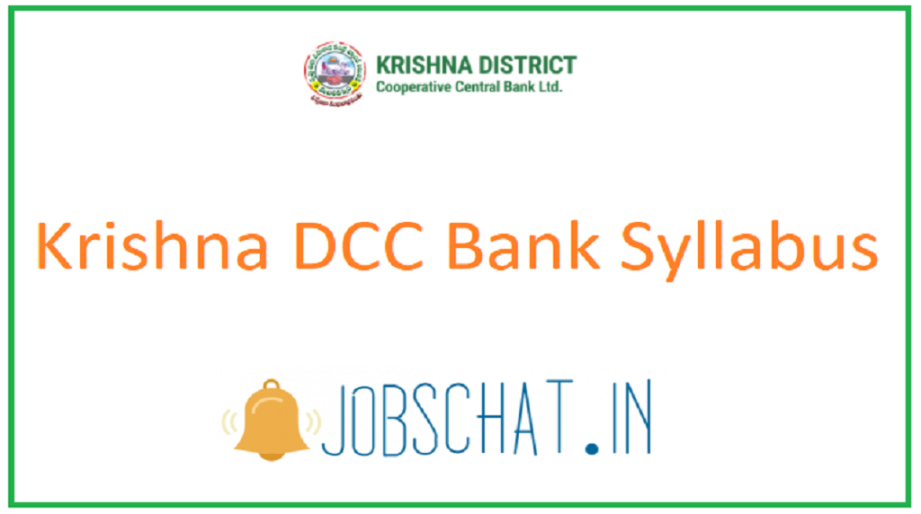 Krishna DCC Bank Syllabus