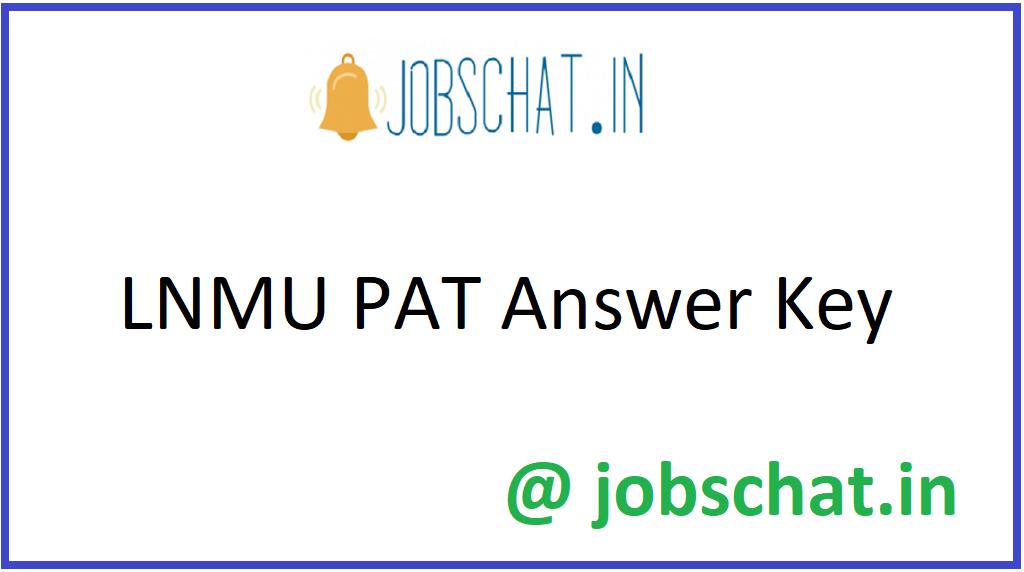 LNMU PAT Answer Key