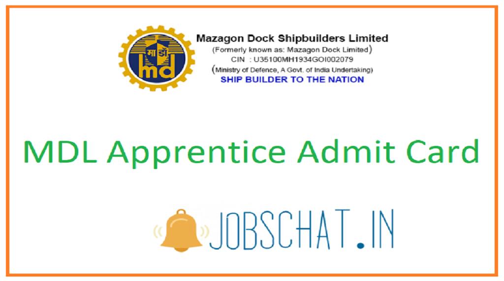 MDL Apprentice Admit Card