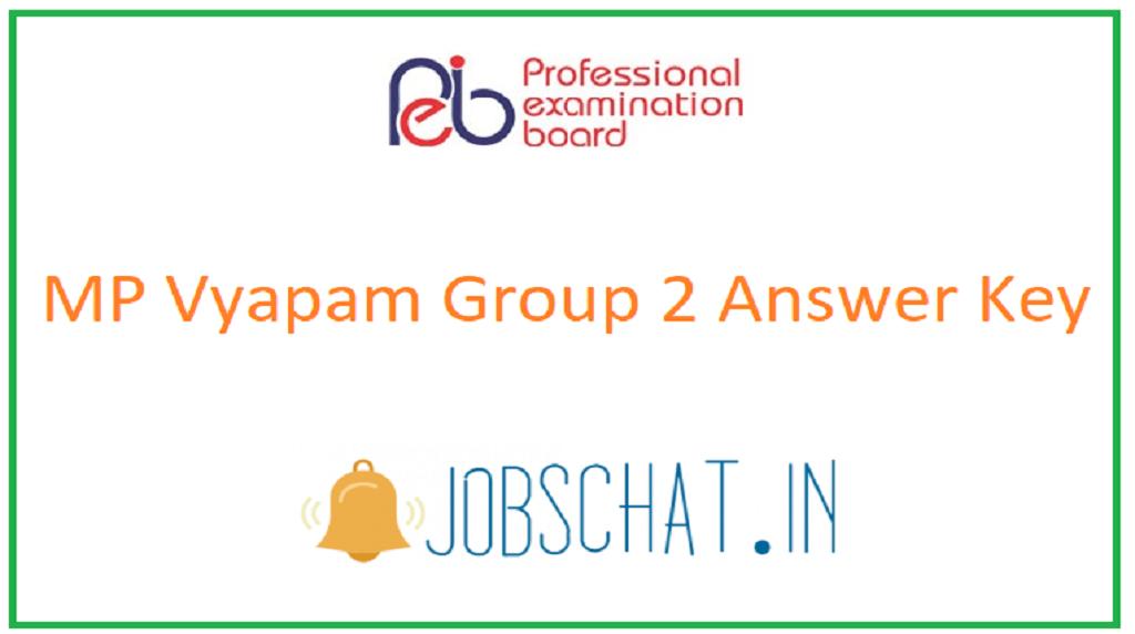 MP Vyapam Group 2 Answer Key
