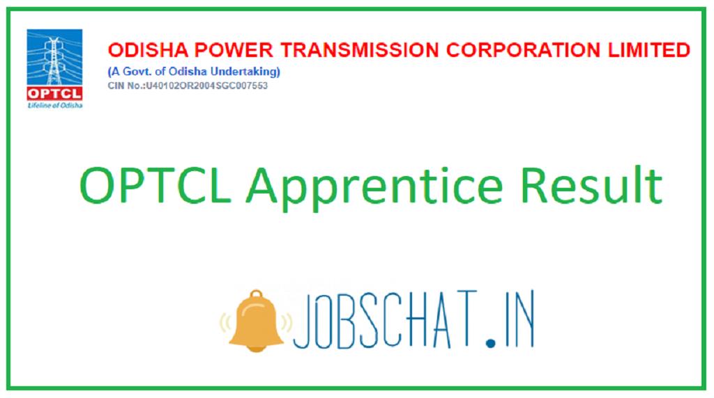 OPTCL Apprentice Result