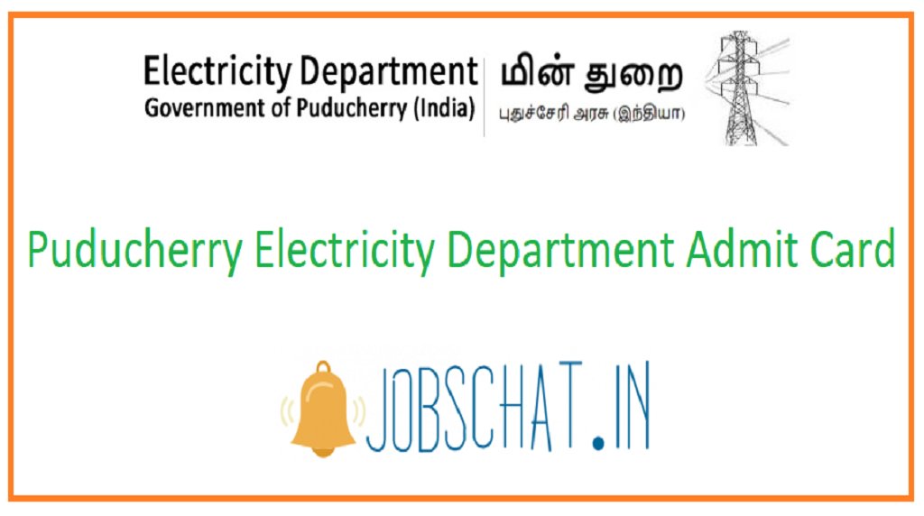 Puducherry Electricity Department Admit Card