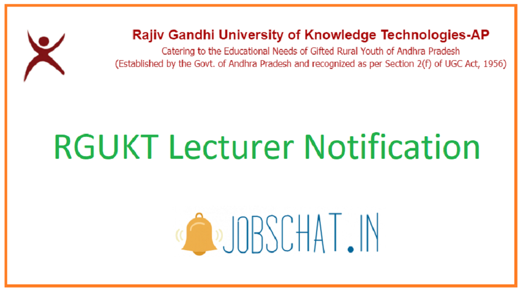 RGUKT Lecturer Notification