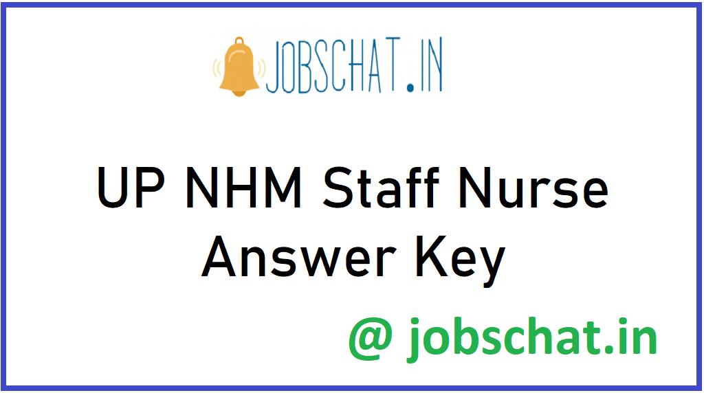 UP NHM Staff Nurse Answer Key