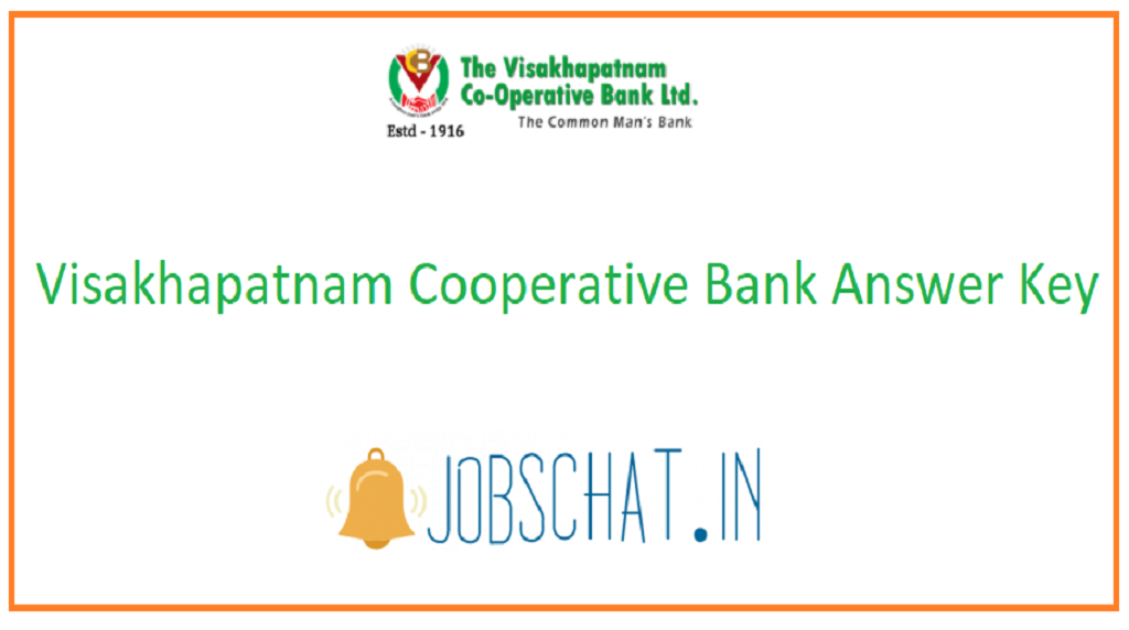 Visakhapatnam Cooperative Bank Answer Key