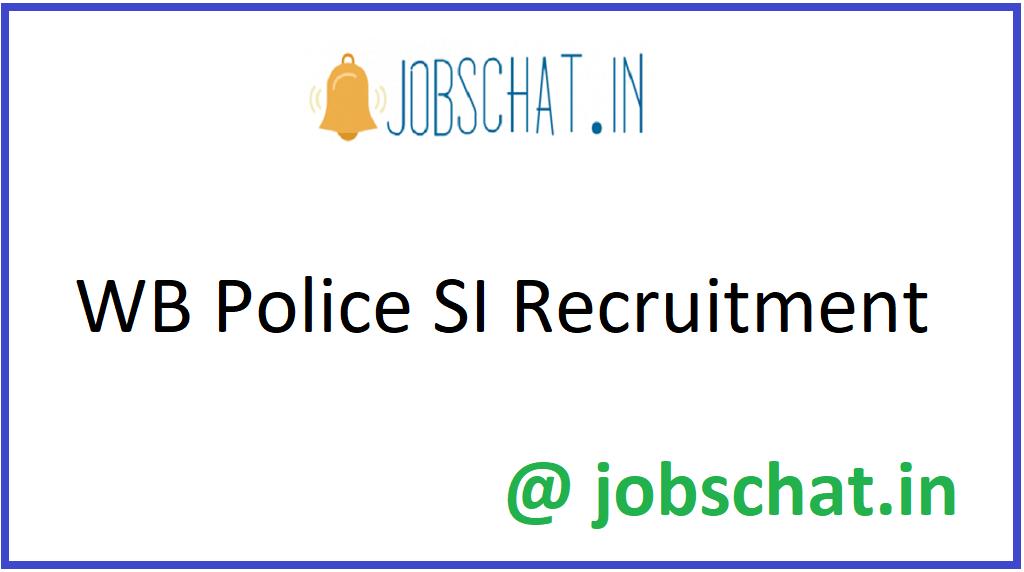 WB Police SI Recruitment