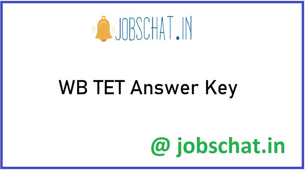 WB TET Answer Key