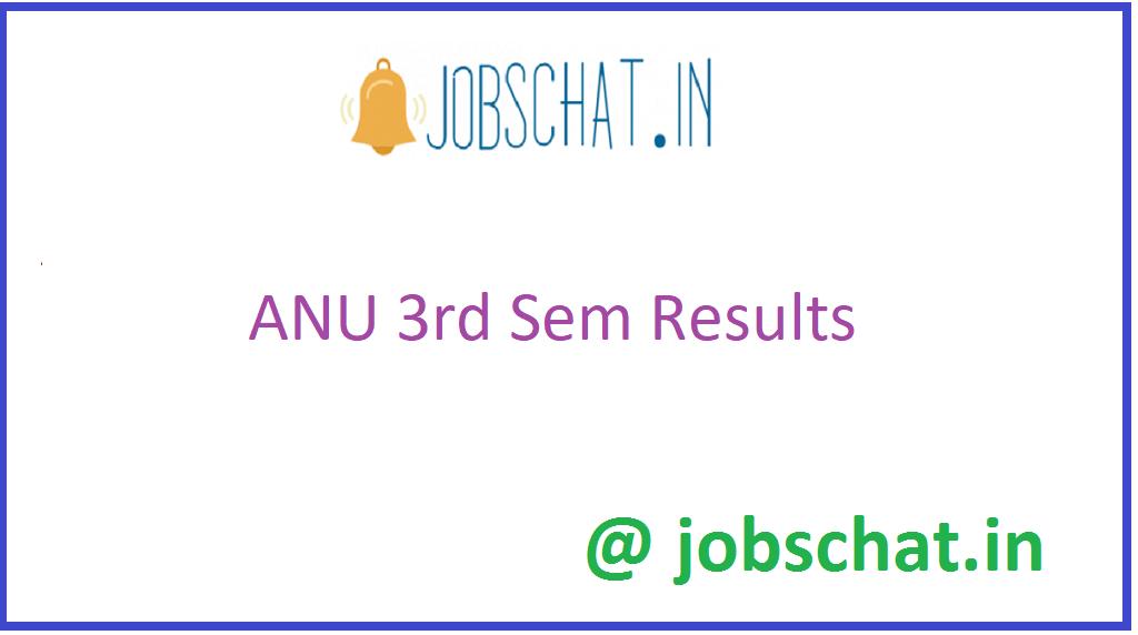 ANU 3rd Sem Results