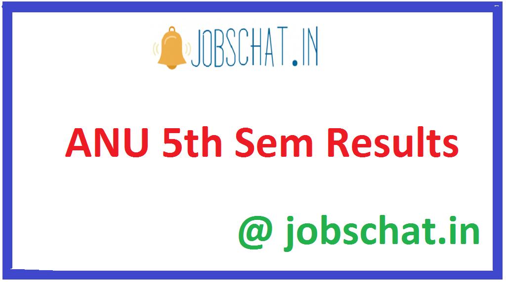 ANU 5th Sem Results