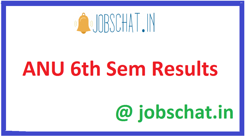 ANU 6thSem Results