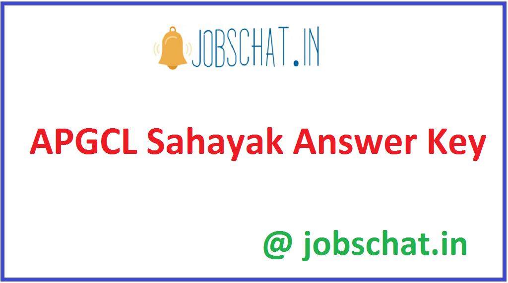APGCL Sahayak Answer Key