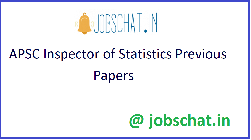 APSC Inspector Of Statistics Previous Paper
