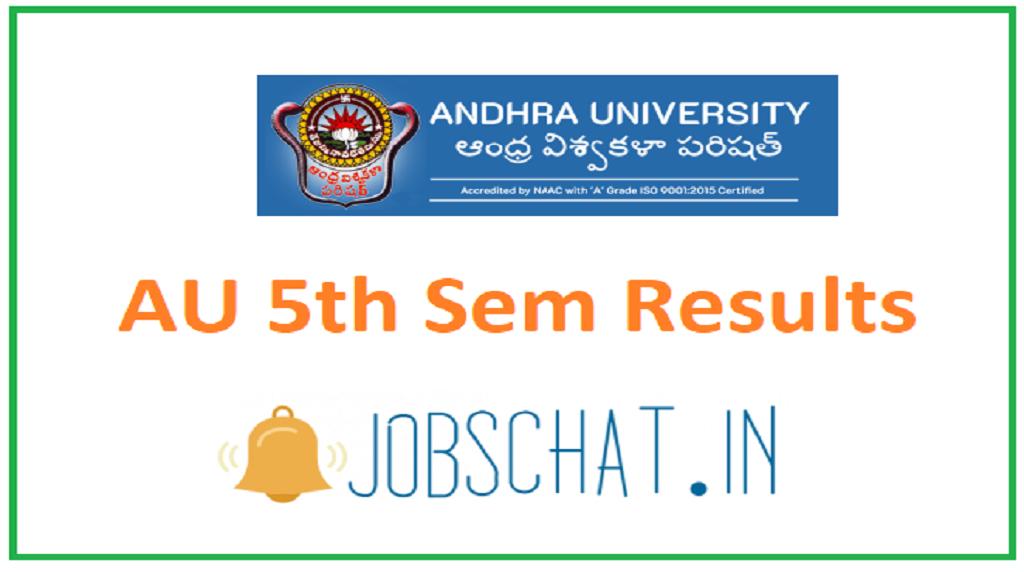 AU 5th Sem Results