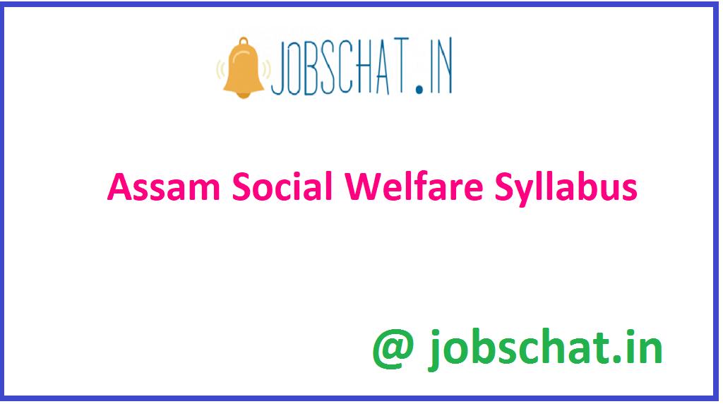 Assam Social Welfare Syllabus