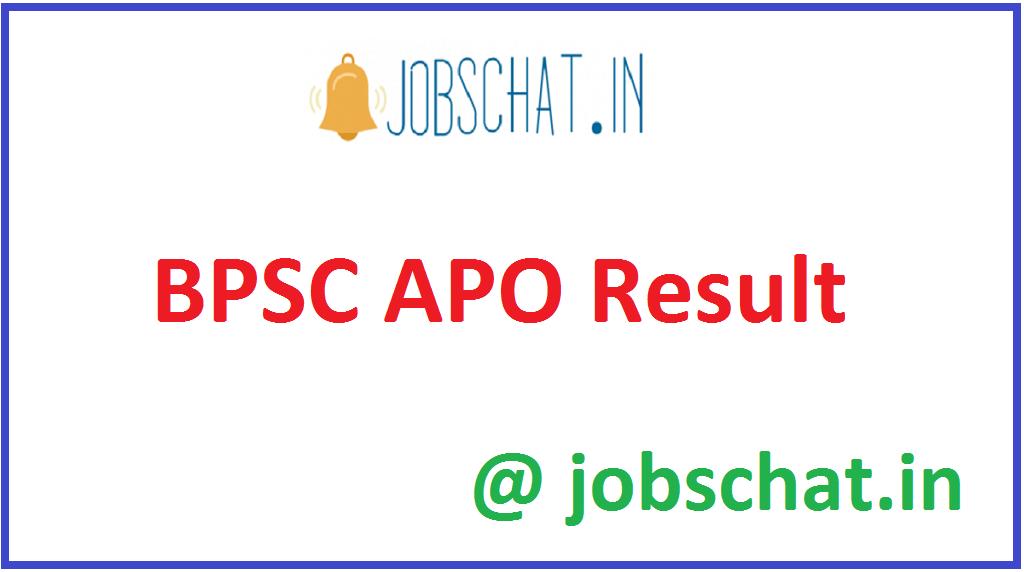 BPSC APO Result