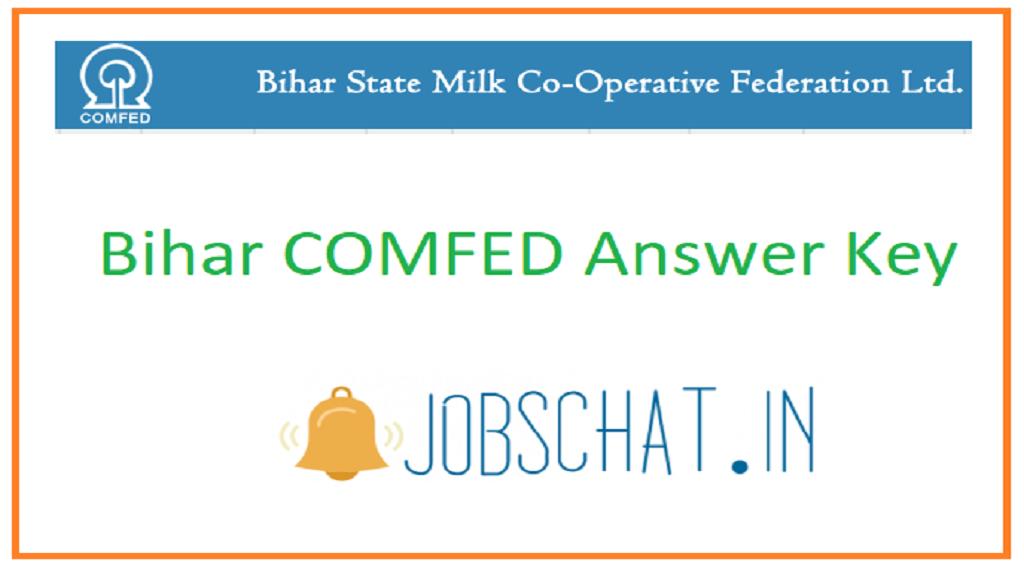 Bihar COMFED Answer Key
