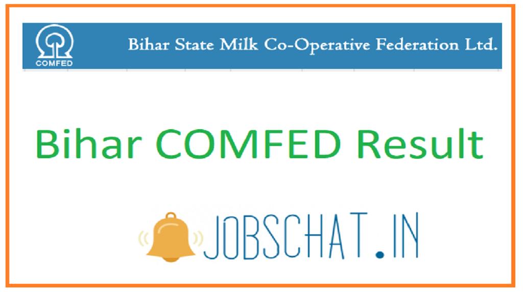 Bihar COMFED Result